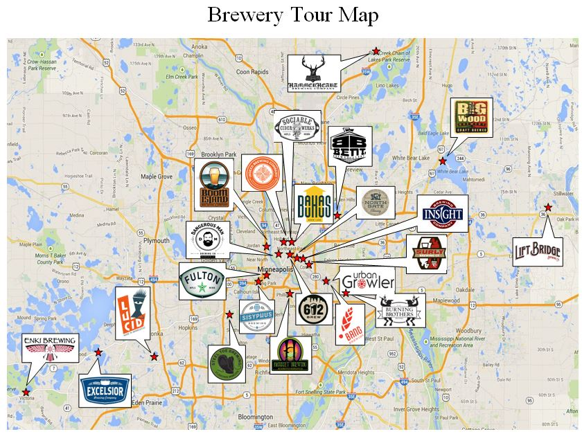 Brewery Tour Map